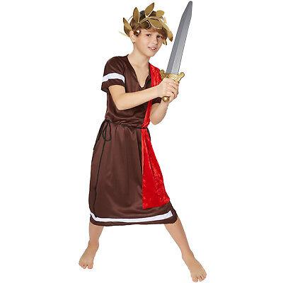Grieche Römer Kostüm für Kinder Karneval Fasching Toga Kaiser Verkleidung Jungen