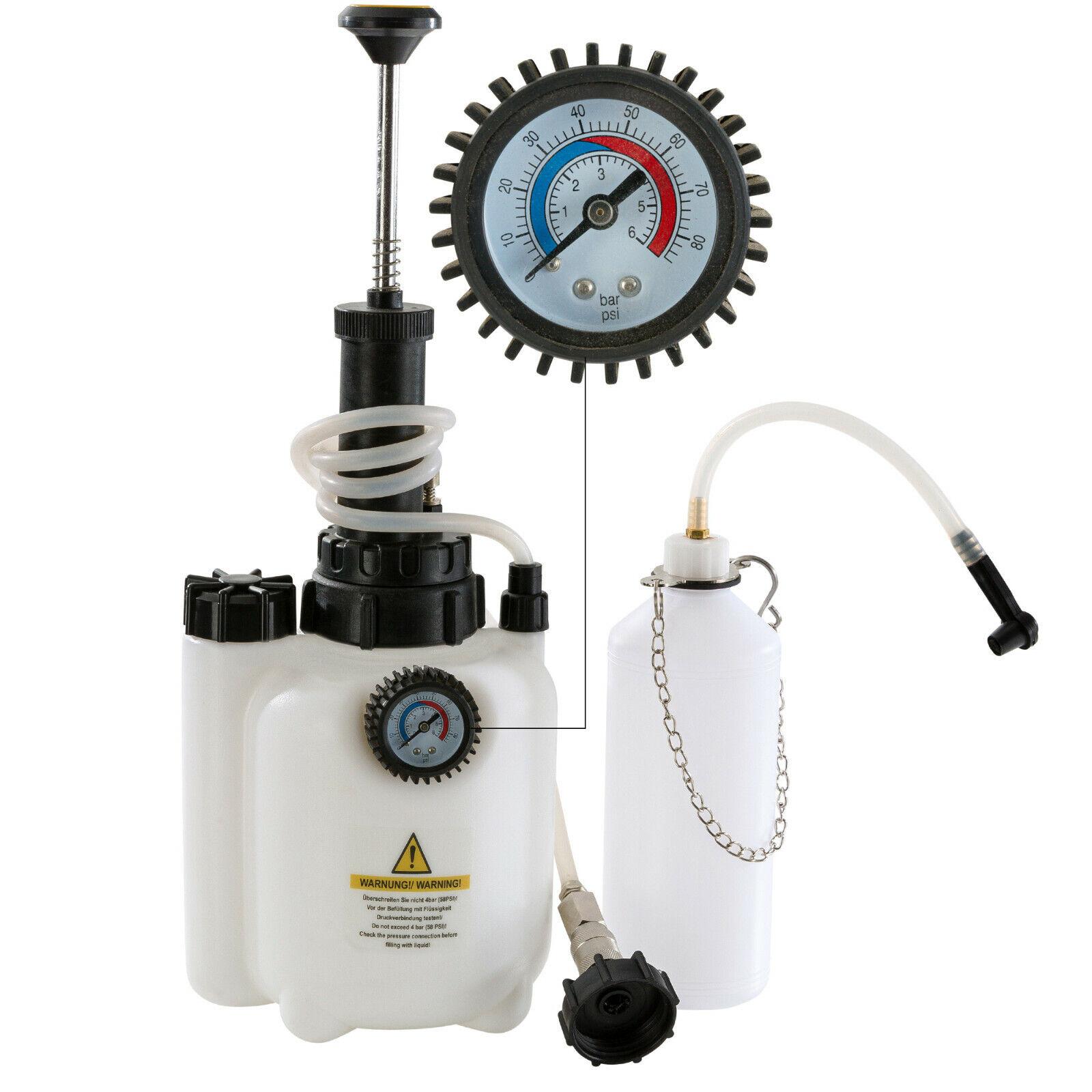 Bremsenentlüftungsgerät 400 ml Handpumpe Bremsenentlüfter Einfüllgerät entlüfter