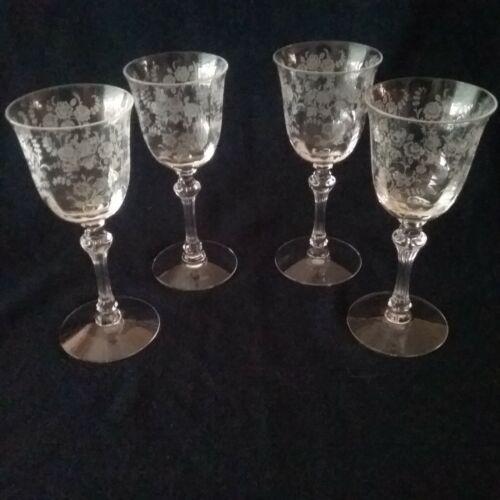Vintage Etched Elegant Glass Tiffin