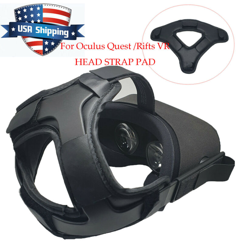 New Comforty PU Leather Non-slip Head Strap Pad for Oculus Quest / Rifts VR USA