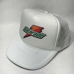 Gatorade Sports Drink Logo Trucker Hat! Vintage Snapback Cap! White