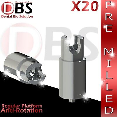 20x Dental Abutment Pre-milled Screw With Hex Amann Girrbach Mis Rp