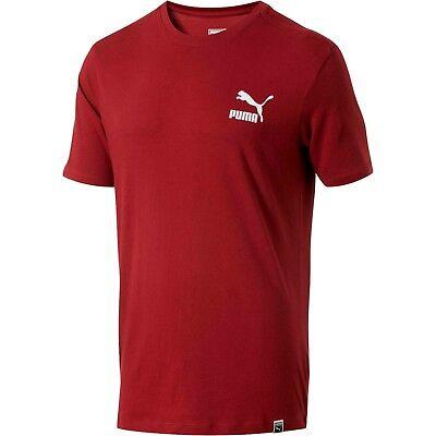 - PUMA Pomegranate-Puma White Archive Logo Box T-Shirt