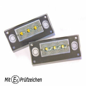 LED-Kennzeichenbeleuchtung-TUV-Frei-fuer-Facelift-AUDI-A3-S3-8L-und-A4-S4-RS4-B5