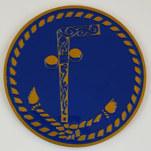 Auto Emblem Two Ball Cane Aluminum Masonic Freemason Mason