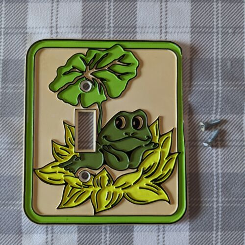 Authentic Vintage 1970s Hand Painted Frog/Toad Switch Outlet Plate/Cover