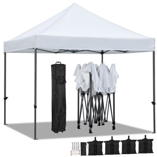10x10' Commercial Pop UP Canopy Party Tent Folding Waterproo