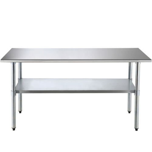 """Commercial Stainless Steel 30""""x72"""" Food Prep Work Table Kitchen Restaurant"""