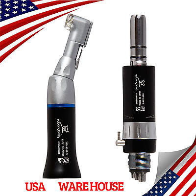 Usa 1 Kit Dental Slow Low Speed Contra Angle With E-type Air Motor Handpiece 4-h