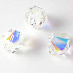 10 PIECES SWAROVSKI CRYSTAL 5328 XILION BICONE 6mm BEADS