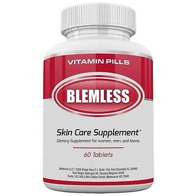 Blemless Clear Skin Supplements Pill- Best Tablets for Oily Skin and