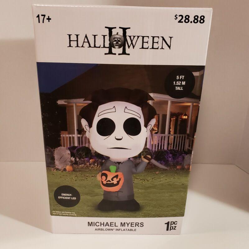 5 Ft Tall MICHAEL MYERS Gemmy Halloween Airblown Inflatable Yard Prop NIB