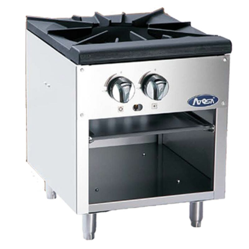 ATOSA FLOOR MODEL HEAVY SINGLE BURNER NATURAL GAS STOCK POT STOVE ATSP-18-1