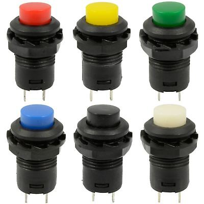 12mm Momentary Self-locking Push Button Round Toggle Switch Onoff Car Boat