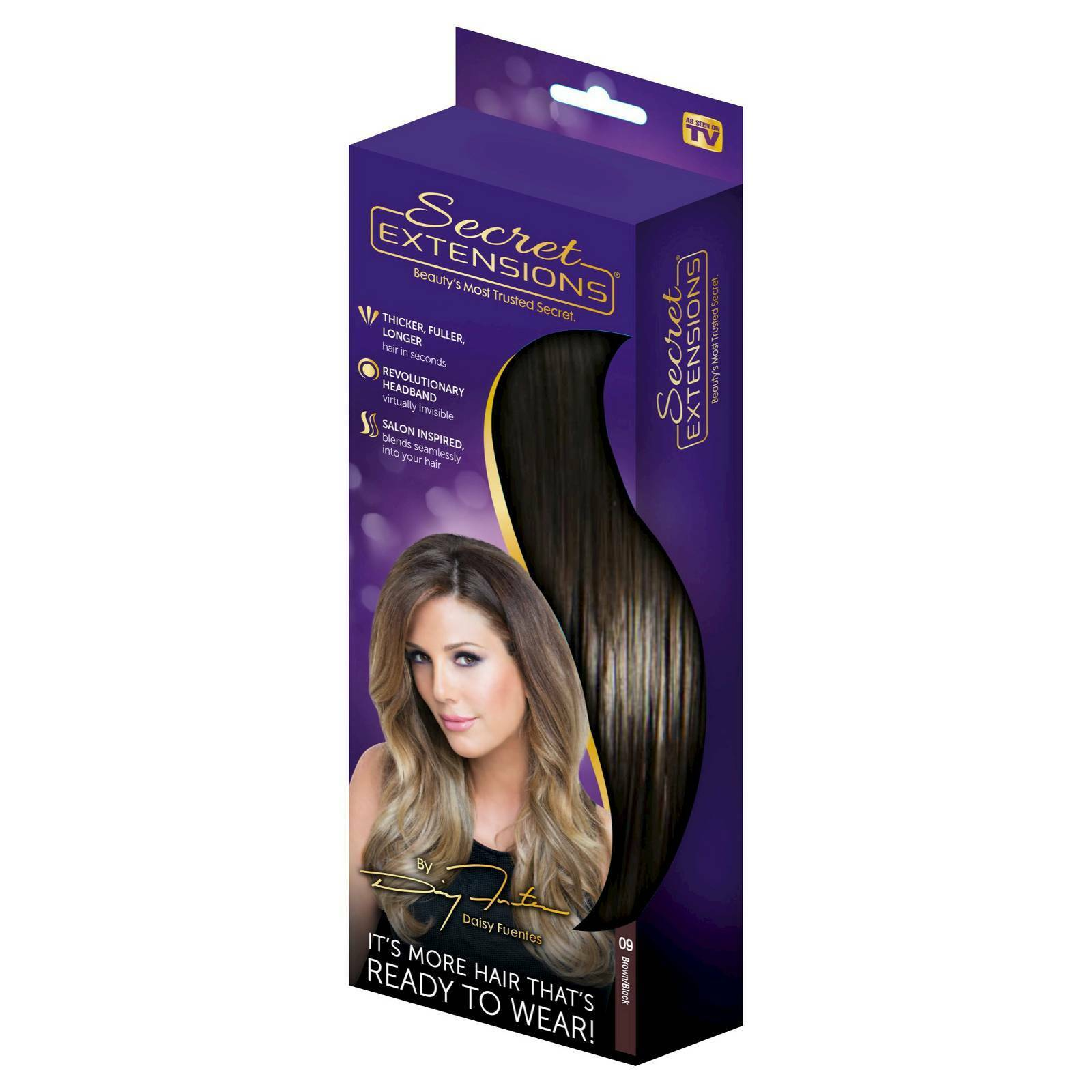 Secret Extensions By Daisy Fuentes Hair Extensions As Seen On Tv
