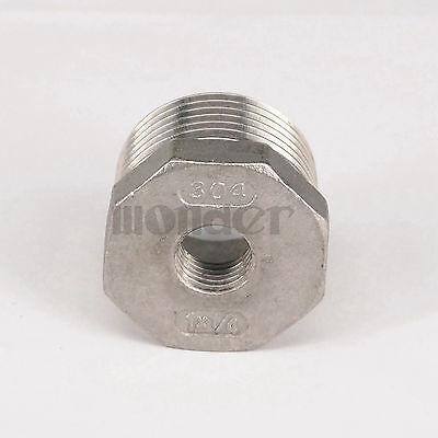 304 Stainless Steel Reducer 1 Bsp Male To 14 Bsp Female Pipe Fitting