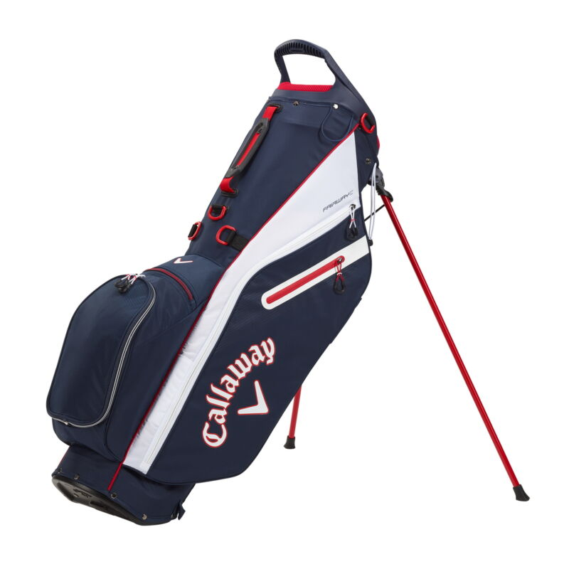 Callaway Fairway C Double Strap  Stand Golf Bag - Navy/White/Red - New 2021