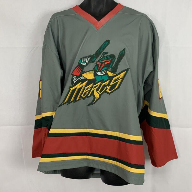 Geeky Jerseys Mandalorian Mercs Boba Fett Custom Hockey Jersey Large