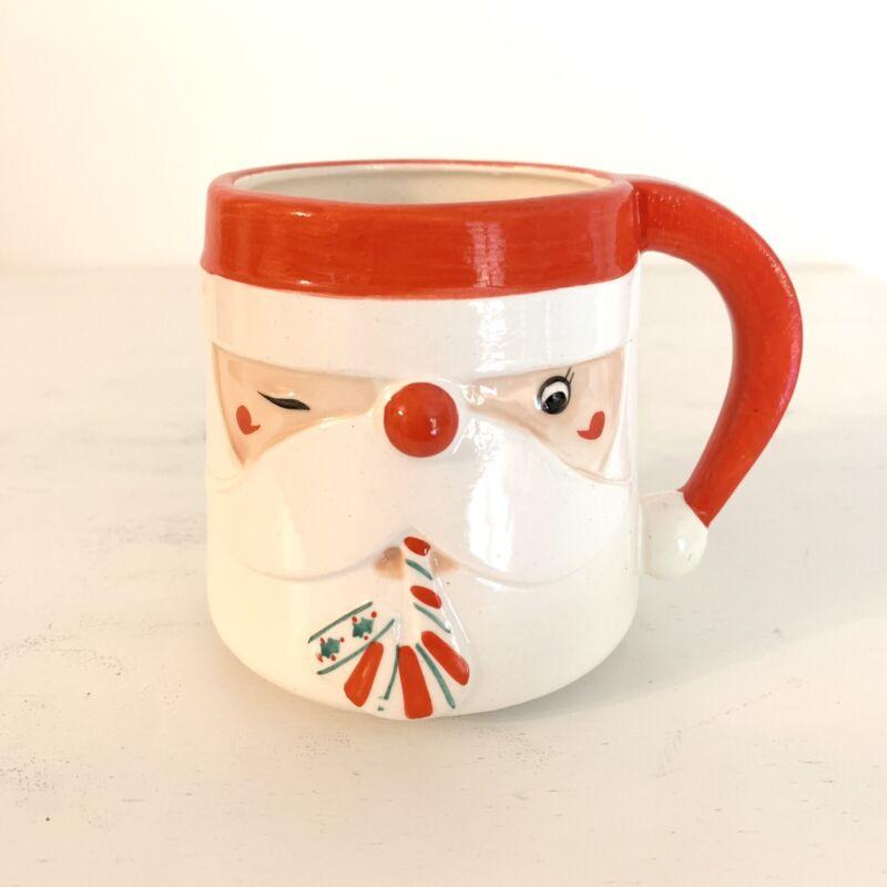 Vintage Santa Mug James R Summers Designs Shafford Japan 8601 Christmas Rare