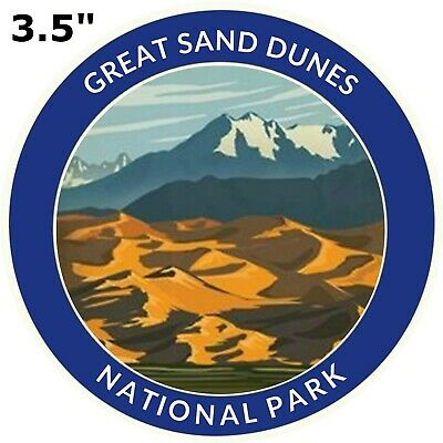 Great Sand Dunes National Park Series Embroidered Patch Iron-On Souvenir Explore