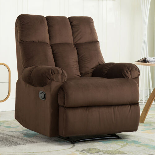 Camel Recliner Chair with Quilted Padded Backrest Upholstere