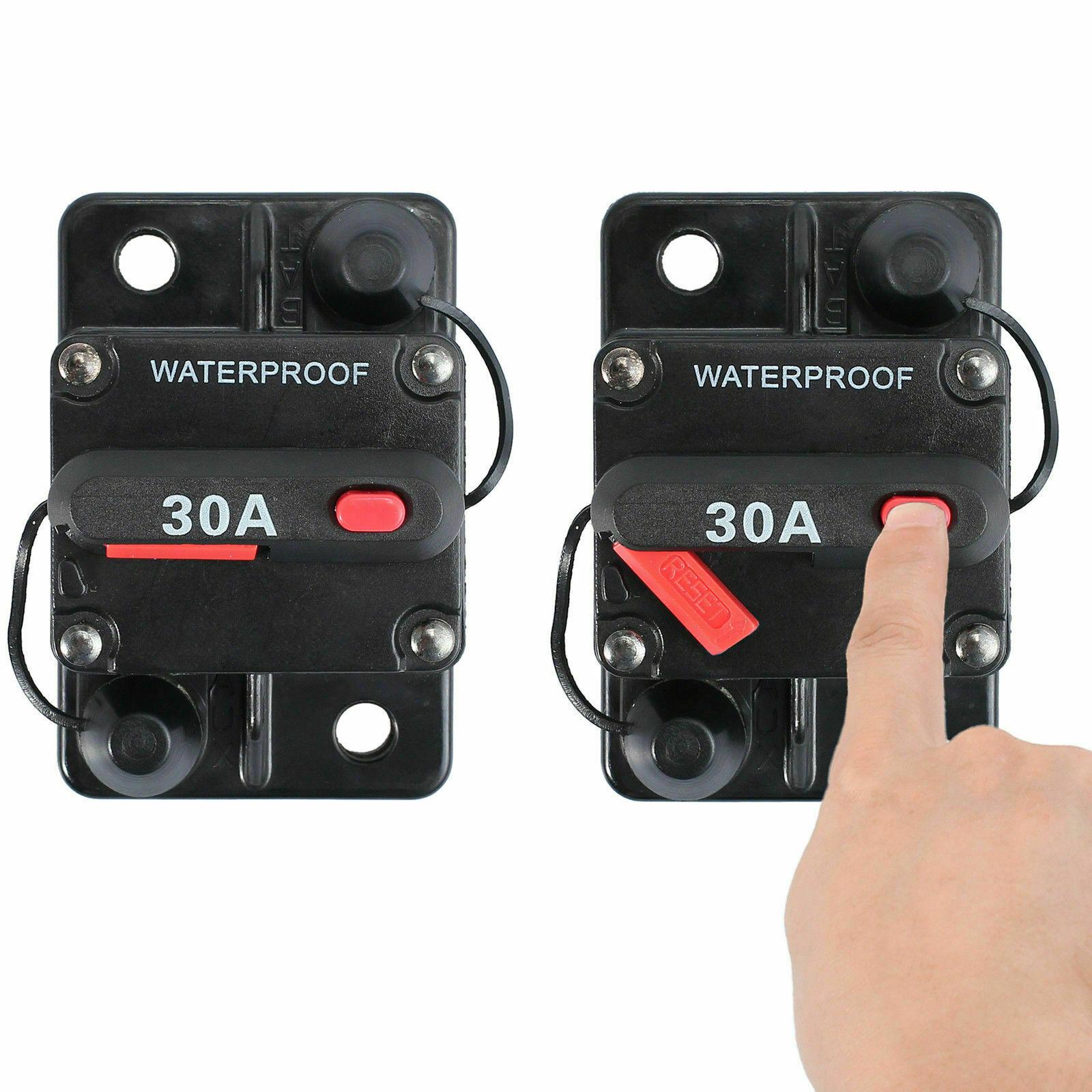 New 20A-150A Manual Reset Circuit Breaker 12//24V Car Audio Marine Boat UK stock