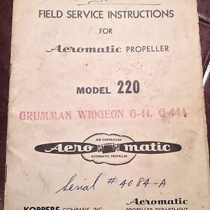 Aeromatic-Model-220-Propeller-Field-Service-Manual