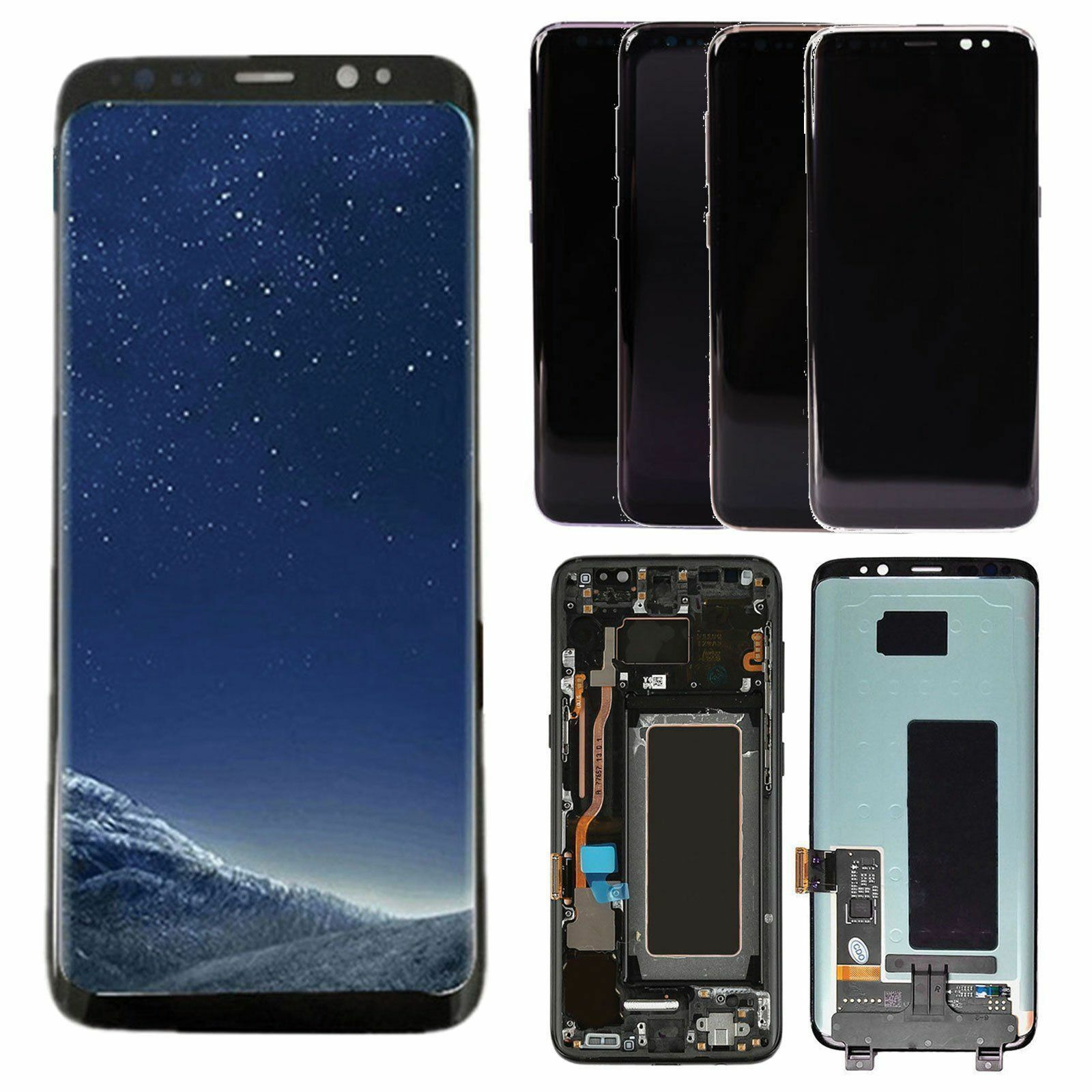 For Samsung Galaxy S8 G950 & S8 PLUS LCD Display + Touch Screen Digitizer+  Frame