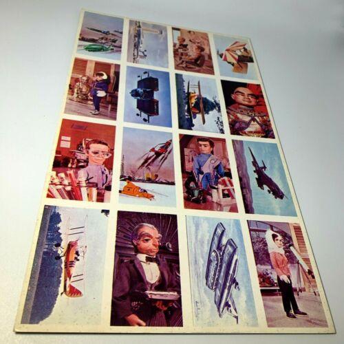 Vintage Thunderbirds menko Trading cards uncut sheet