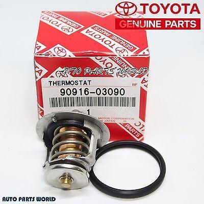 NEW GENUINE TOYOTA 4CYL THERMOSTAT & GASKET SET 90916-03090 & 16325-63011
