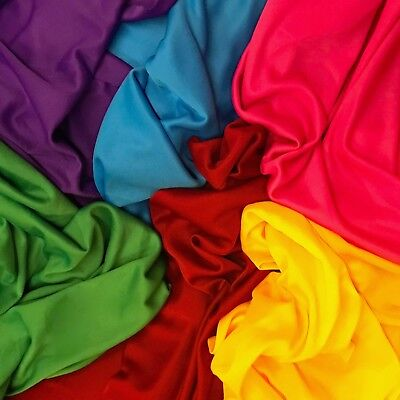 """Interlock Lining Poly Stretch Fabric 70 Denier 60"""" Wide Sold BTY Many Colors"""