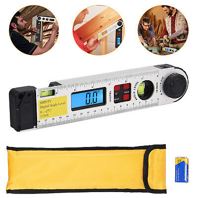 0-270 Lcd Digital Protractor With Level Bubble Inclinometer Level Angle Finder