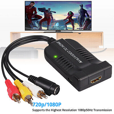 3 Rca S-video (AV CVBS S-Video zu HDMI Konverter Composite 3RCA zu HDMI Adapter Unterstützung)