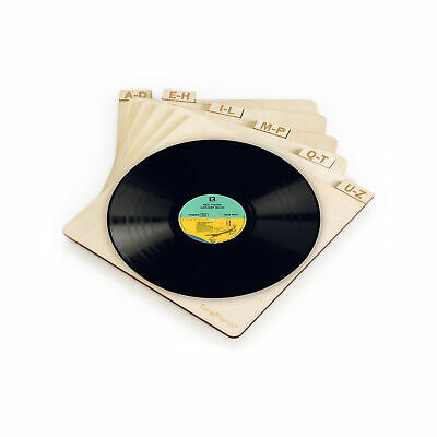 TunePhonik Laser Cut Wooden Record Dividers to Organize Viny
