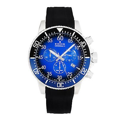 Edox Men's Chronorally S Swiss Chronograph Watch F1 Caseback  10227 3NBUCA BUBN
