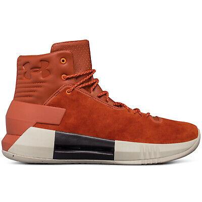 Under Armour UA Drive 4 Premium Mens Basketball Shoes - Orange Suede - Size 10