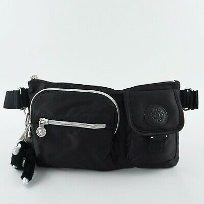 KIPLING PRESTO Convertible Waist Bag Belt Bum Bag Fanny Pack Black