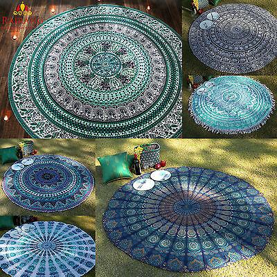 Round Tapestry Beach Towel Yoga Mat Indian Mandala Throw Tablecloth Home Decor](Beach Table Cloth)