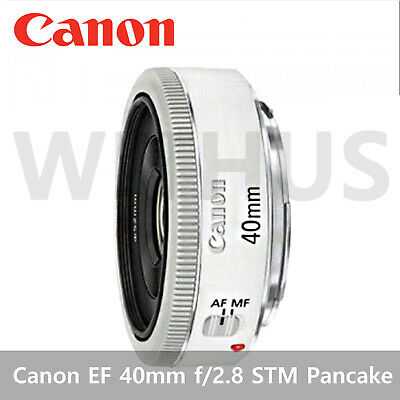 Canon EF 40mm f/2.8 STM Pancake Digital Camera Lens Bulk package- Silver