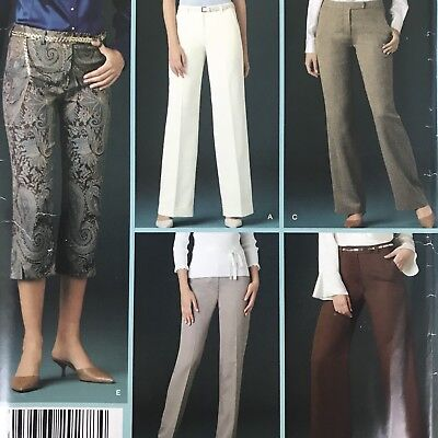 Plus Size Boot Cuffs (Uncut Misses Pants 16 18 20 22 24 Simplicity 4366 Tapered Wide Or Boot Leg)