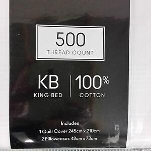 BRAND NEW 500 THREAD COUNT Quilt Cover Set Yangebup Cockburn Area Preview