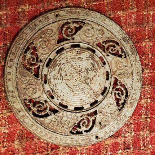 """Antique 3 Piece Cast Iron Floor Register """"THE ADAMS COMPANY DUBUQUE IOWA 1897"""""""