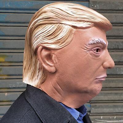 Realistic Donald Trump Halloween Vollkopf Latex Adult Maske Cosplay Kostüm - Donald Trump Kostüm