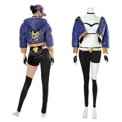 LOL K/DA KDA Akali Cosplay Costume Coat Jacket Pop Stars Suit Outfit Women - Akali Cosplay Kostüm