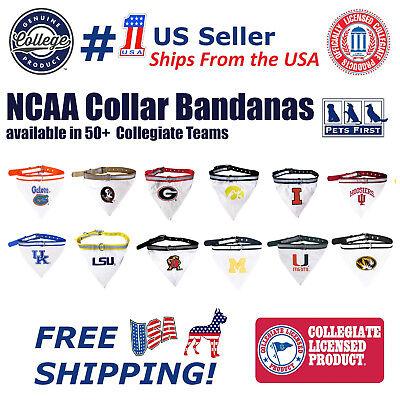 - Pets First NCAA DOG Collar Bandana - Licensed, Heavy-Duty, Durable & Adjustable!