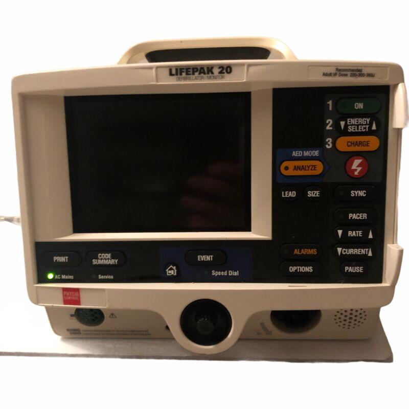 Physio Control Lifepak 20 Biphasic 3 Lead ECG w/ Power Cord w/o Accesories