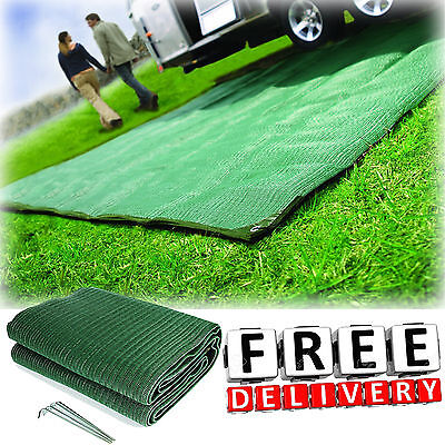 Camping Reversible Mat 6x9' Area Rug Trailer Outdoor Patio RV Accessories Awning