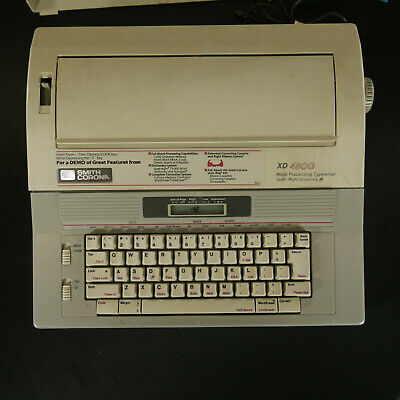 Smith Corona Xd 4800 Electric Word Processing Typewriter 5a-1 Tested And Works