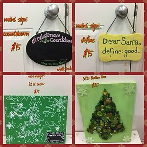 Christmas Wood Clapboard & Standups &Decorations Hand Painted Edmonton Edmonton Area image 9