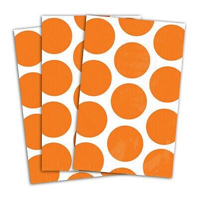 10 Polka Dot Spots ORANGE PEEL Treat Loot Party Sweet Candy Paper Bags
